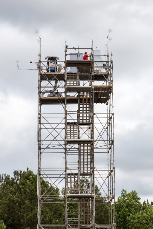 Tower holding the equipment