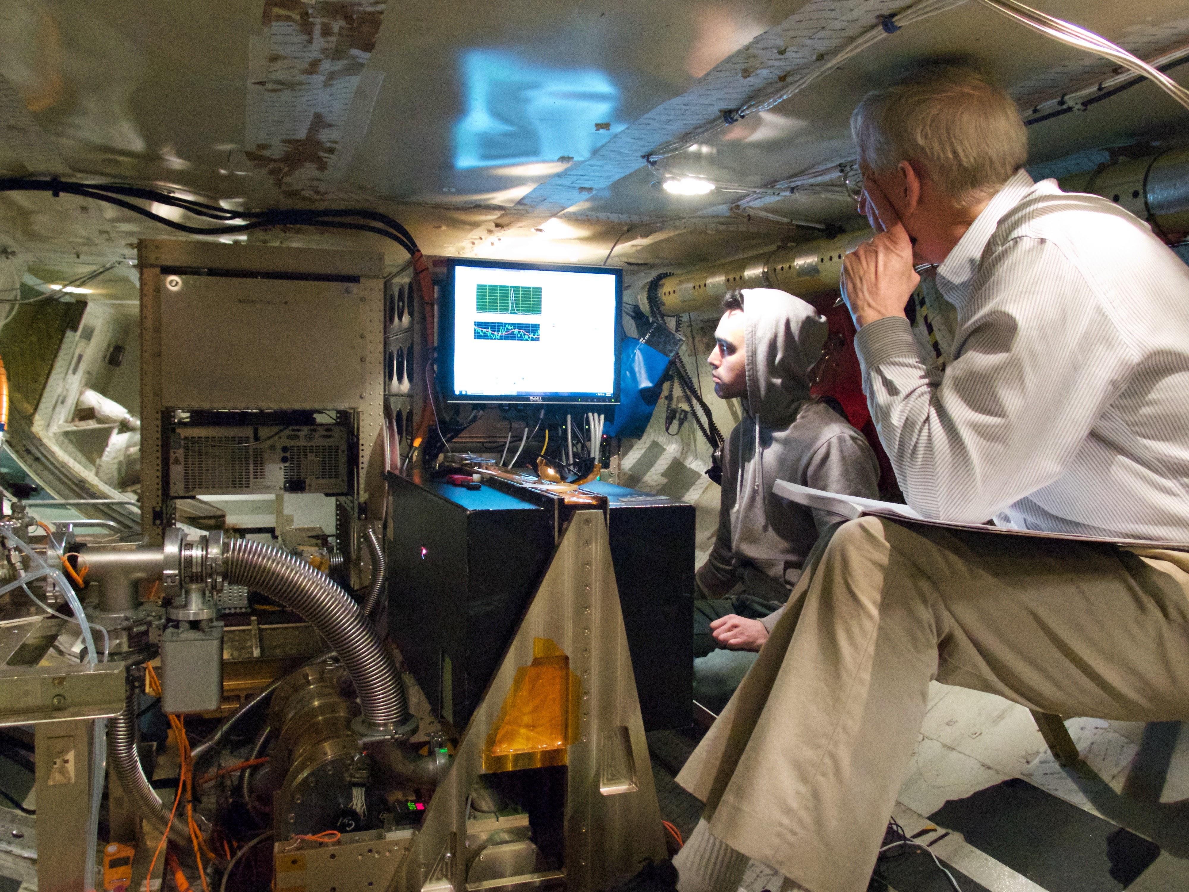 Bill Brune Alex Thames aboard DC8 KORUS project