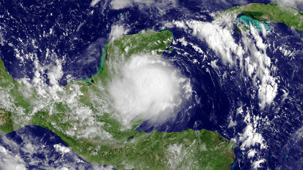 satellite imagery of Hurricane Karl