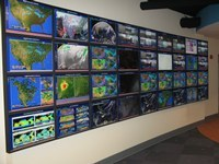 Meteorology Department's new electronic map wall enhances learning via state-of-the-art graphics technology