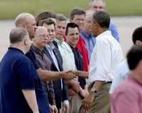 President meets with NWS forecasters following devastating Oklahoma tornado