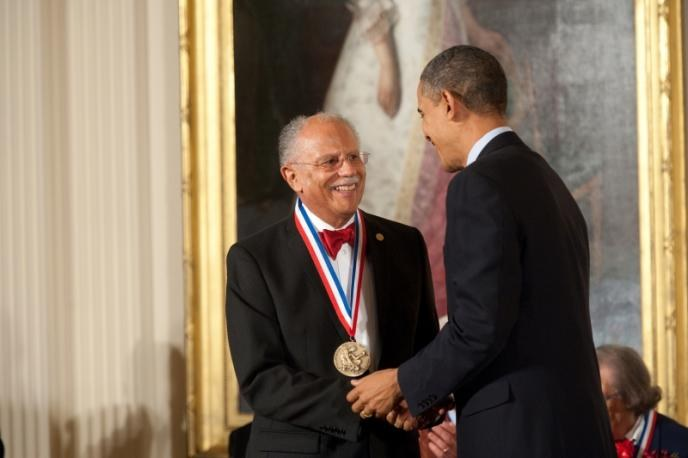 President Obama awards Warren Washington with National Medal of Science