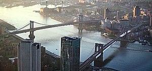 May 10. 2013 file photo Manhattan and Brooklyn Bridge