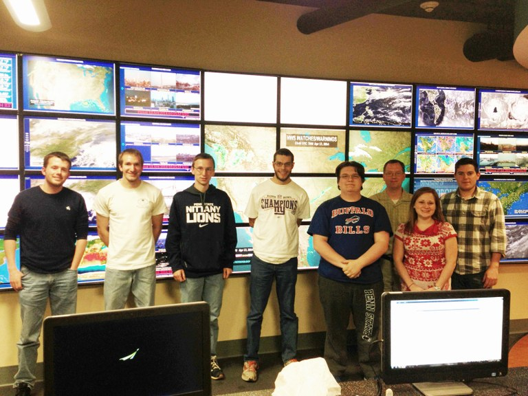 Members of Penn State's 2013-14 Weather Challenge championship team.