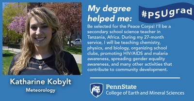 Alumnus Katharine Kobylt explains how her Penn State Meteorology degree helped her land a job as a secondary education science teaching in the Peace Corps.