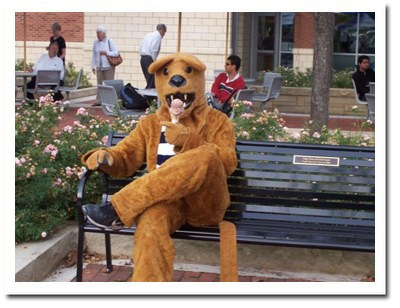 Nittany Lion Eating Ice Cream