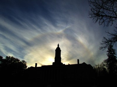 Bryant Sell halo above Old Main